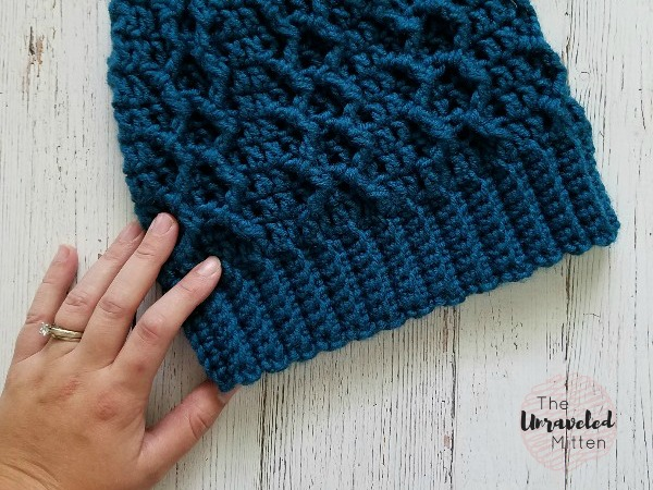 Honeycomb Cabled Beanie Free Crochet Pattern The