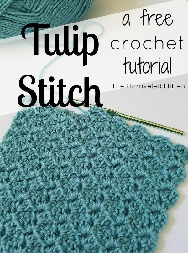 Tulip Stitch A Free Crochet Tutorial The Unraveled Mitten
