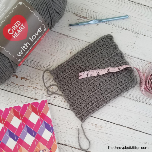 Crochet Gauge Swatch