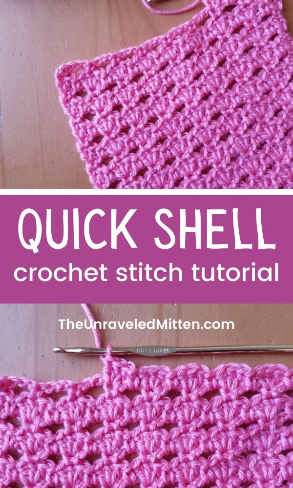 Quick Shell Crochet Stitch Tutorial | The easy crochet stitch will fly off your hook. Use it for your next blanket, scarf or wrap project!