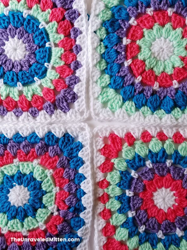 May Flowers Granny Square | Free Crochet Pattern | The Unraveled Mitten