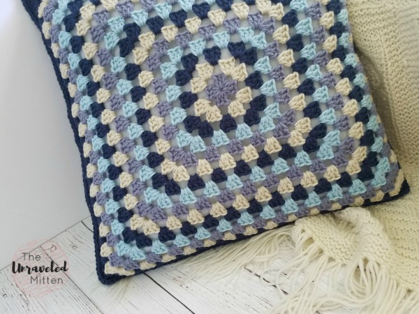 Lake Breeze Pillow | Free Crochet Pattern | Part 1 | The Unraveled Mitten