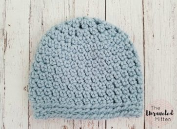 The Maggie Chunky Beanie   Free Easy Crochet Pattern   The Unraveled Mitten