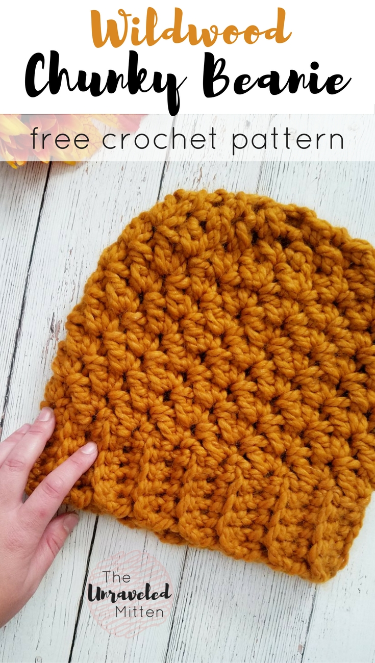 Wildwood Chunky Hat | Free Crochet Pattern | The Unraveled Mitten