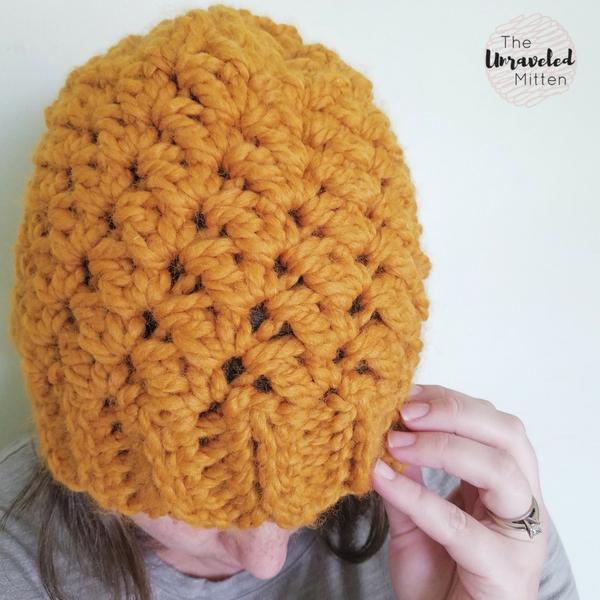 WIldwood Chunky Beanie | Free Crochet Pattern | The Unraveled Mitten