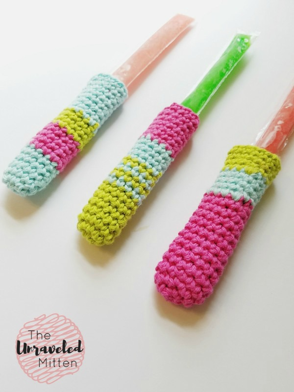 Freeze Pop Cozy | Free Crochet Pattern | The Unraveled Mitten