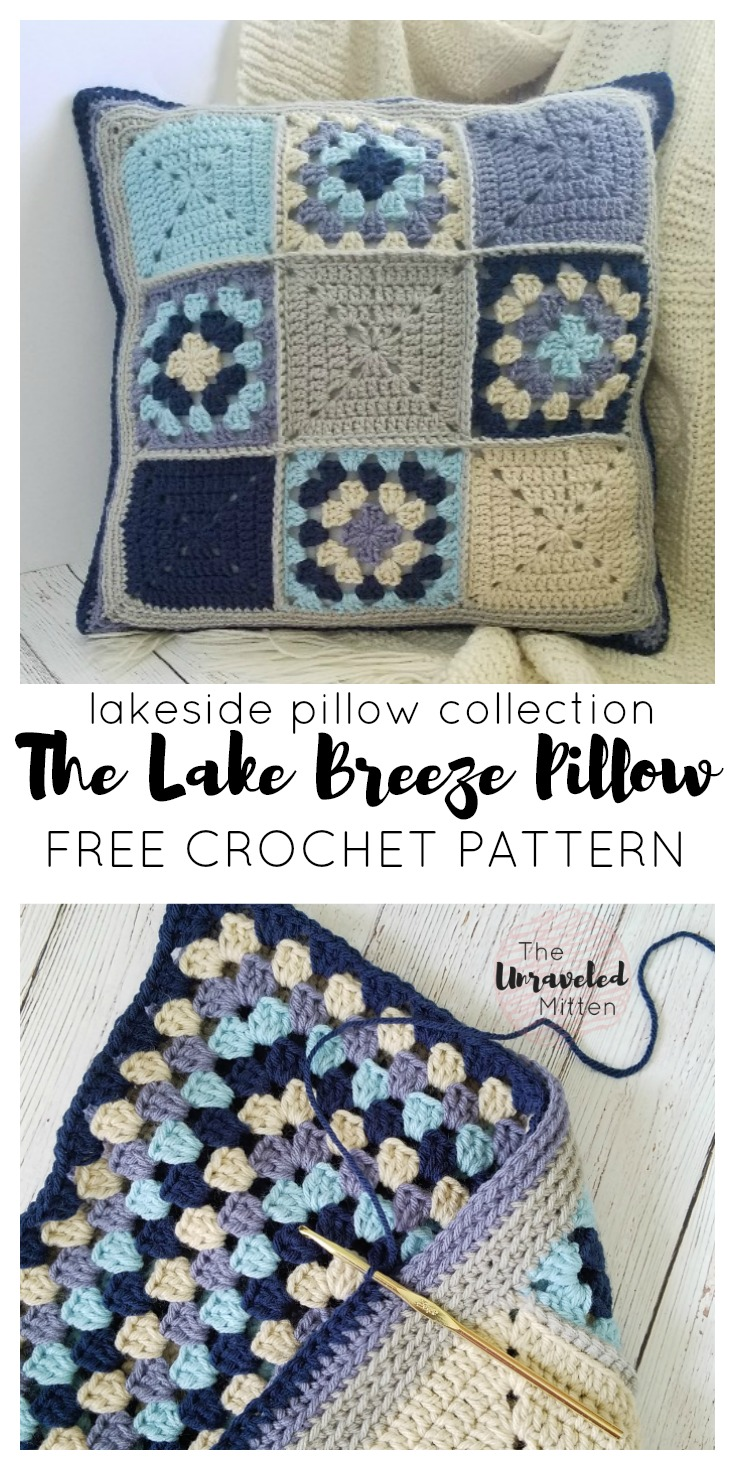 Lake Breeze Pillow | Part 1 | Free Crochet Pattern for the Home | The Unraveled Mitten