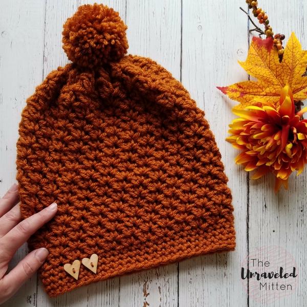Wildwood Slouchy Beanie | Free Crochet Pattern | The Unraveled MItten