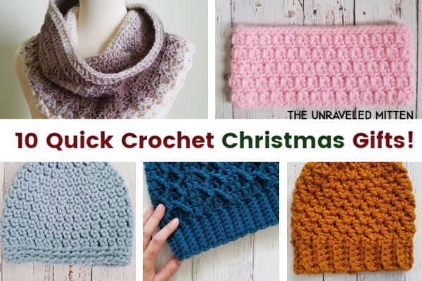 Quick Crochet Gifts to Make for Christmas This Year | The Unraveled Mitten | Free Crochet Pattern