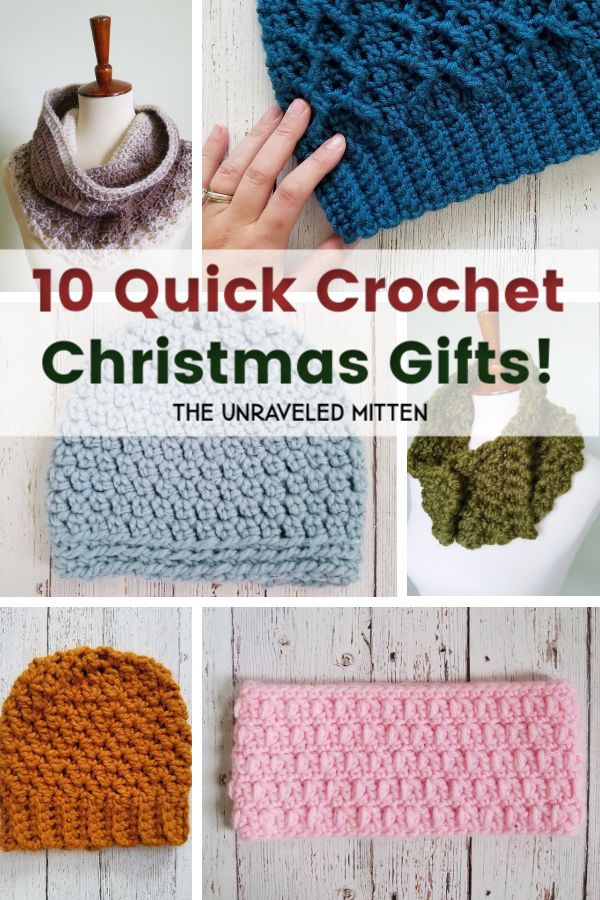 10 Quick Crochet Gifts to Make for Christmas This Year!! | The Unraveled Mitten | Free Crochet Pattern