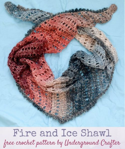 Fire and Ice Shawl | Free Crochet Pattern | 9 Crochet Shawls for Spring Round up by The Unraveled Mitten