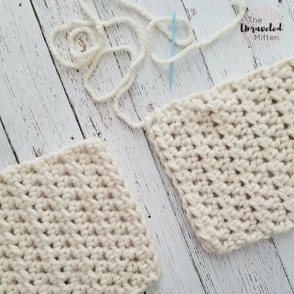whip stitch ends of scarf together