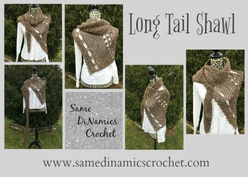 Long Tail Shawl | Free Crochet Pattern | 9 Crochet Shawls for Spring Round up by The Unraveled Mitten