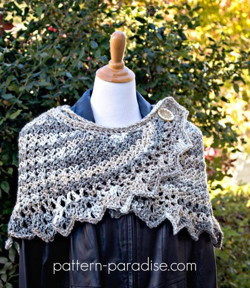 Mysteria Wrap | Free Crochet Pattern | 9 Crochet Shawls for Spring Round up by The Unraveled Mitten