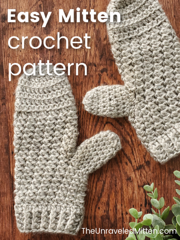 This textured crochet mitten pattern is worked from the top down and would be the perfect fall and winter accessory.