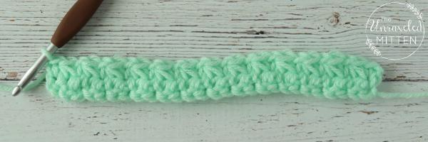 trinity crochet stitch after row 2