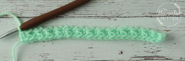 trinity stitch after row 1