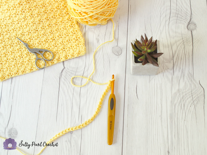 Crochet Lemon Peel Stitch Step 1