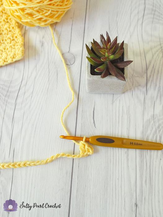Crochet Lemon Peel Stitch Tutorial Step 3