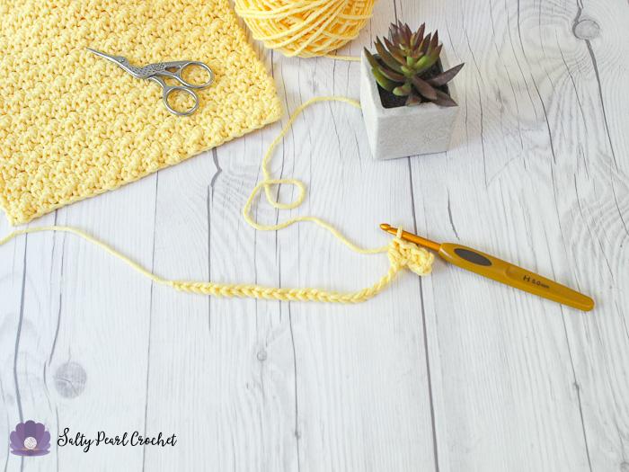 Crochet Lemon Peel Stitch Tutorial Step 4