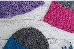Rapids Beanie | Free Crochet Pattern | Kid's Sizes | The Unraveled Mitten