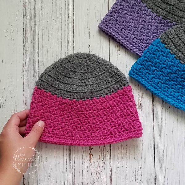 Rapids Beanie by The Unraveled Mitten | Part of a FREE Crochet Hat Pattern Round up on The Unraveled Mitten