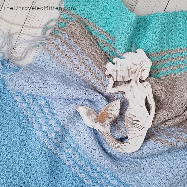 South Shore Baby Blanket | Free Crochet Pattern | The Unraveled Mitten