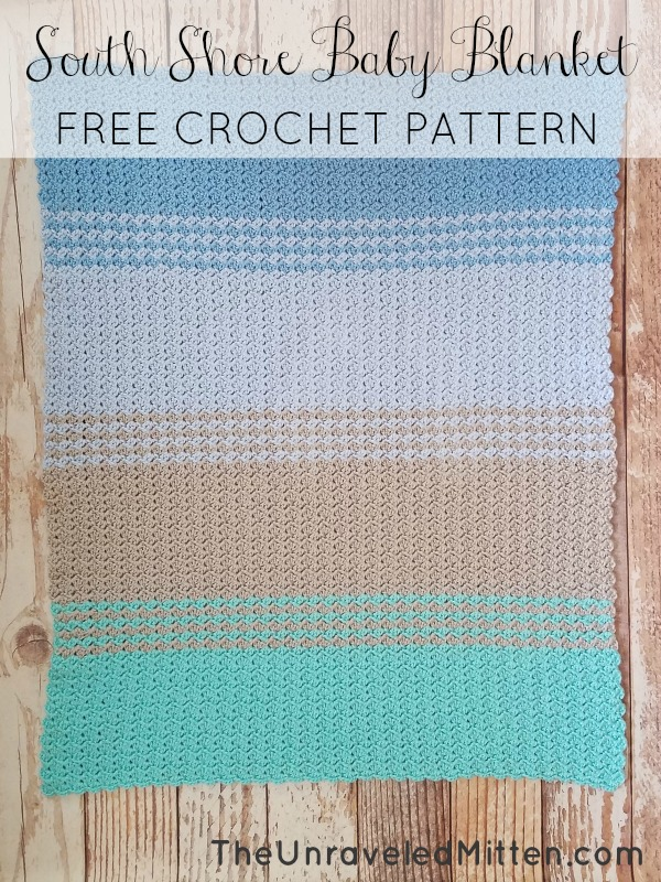 South Shore Baby Blanket | Free Crochet Pattern | The Unraveled Mitten | Crochet Tulip Stitch