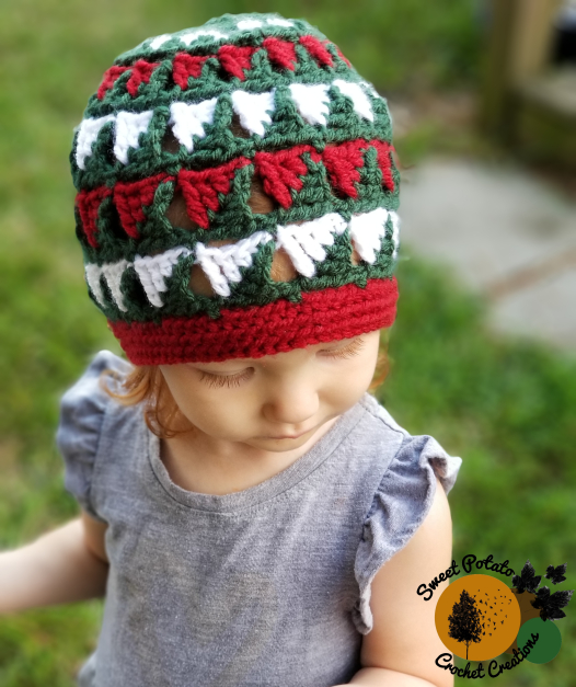Pinecrest Beanie by Sweet Potato Crochet Creations | Part of a FREE Crochet Hat Pattern Round up on The Unraveled Mitten