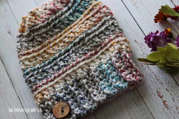 Oakland Chunky Crochet Hat | Free Crochet Pattern | The Unraveled Mitten