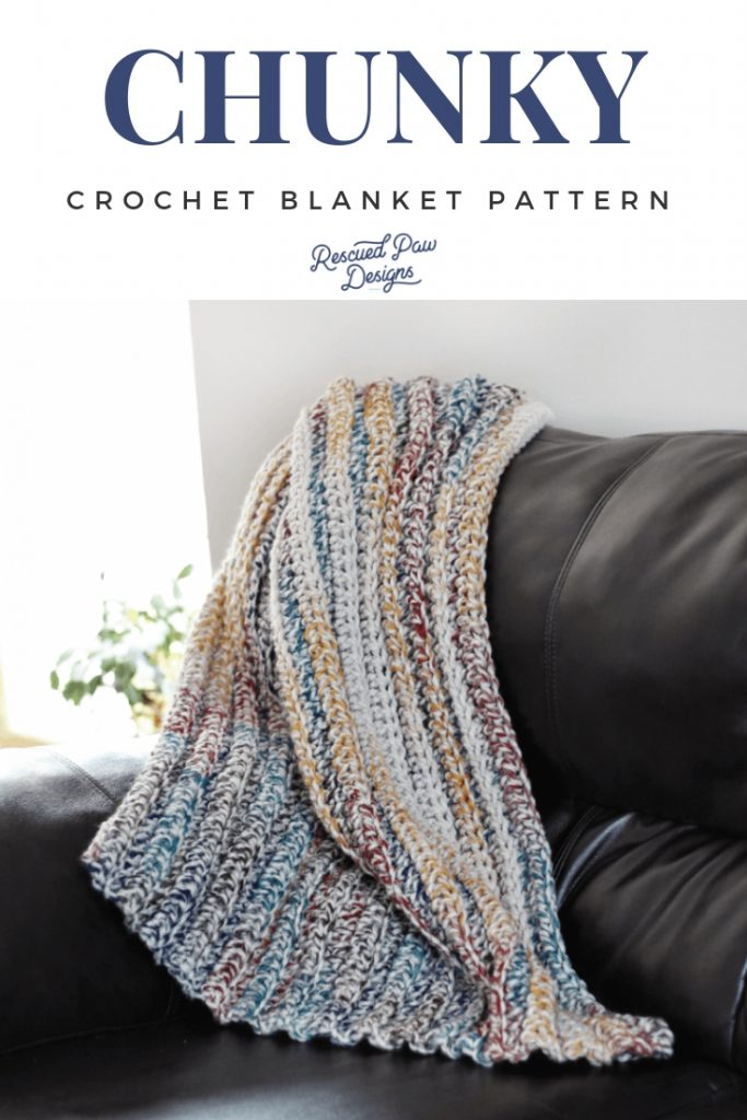 9 Free Crochet Patterns using Wool-Ease Thick and Quick in Hudson Bay   Chunky Crochet Blanket by Rescued Paw Designs   part of a round up on The Unraveled Mitten