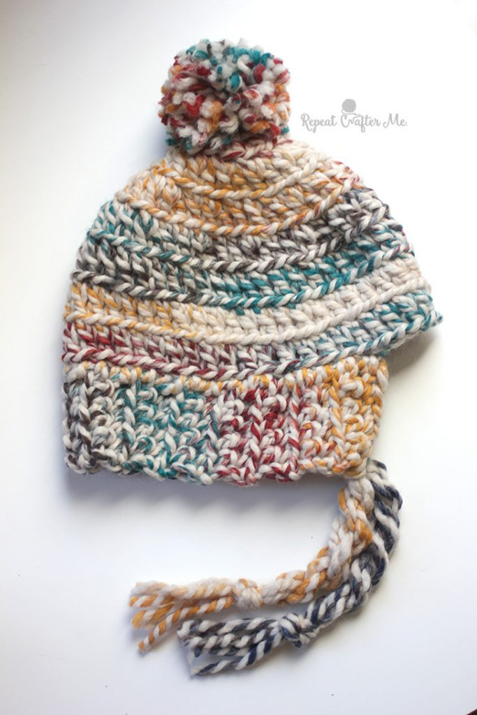 Hudson Hat and Mittens by Repeat Crafter Me   Free Crochet Pattern   Part of a round up  on The Unraveled Mitten