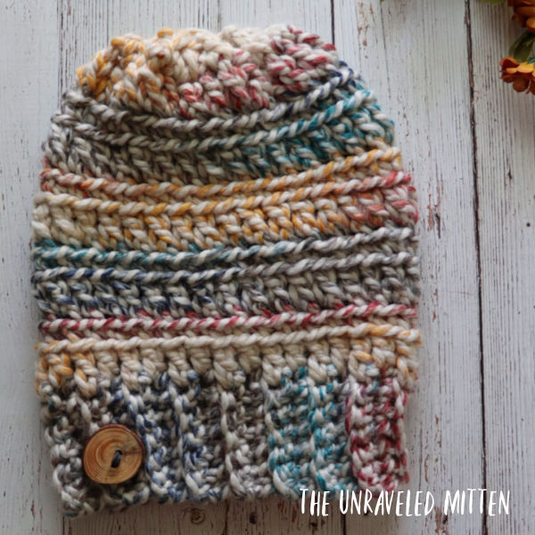 9 Free Crochet Patterns using Wool-Ease Thick and Quick in Hudson Bay   Oakland Chunky Hat   part of a round up The Unraveled Mitten