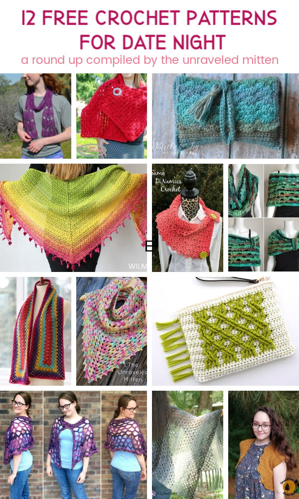 12 Free Crochet Patterns For Date Night   A Round Up Compiled by The Unraveled Mitten