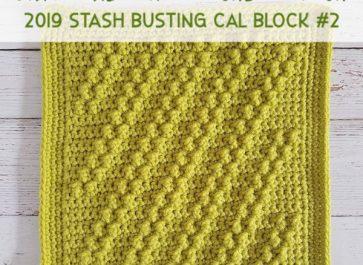 Diagonal Trip Crochet Stitch | Free Crochet Pattern | The Unraveled Mitten | 2019 Stash Busting Sampler Afghan CAL