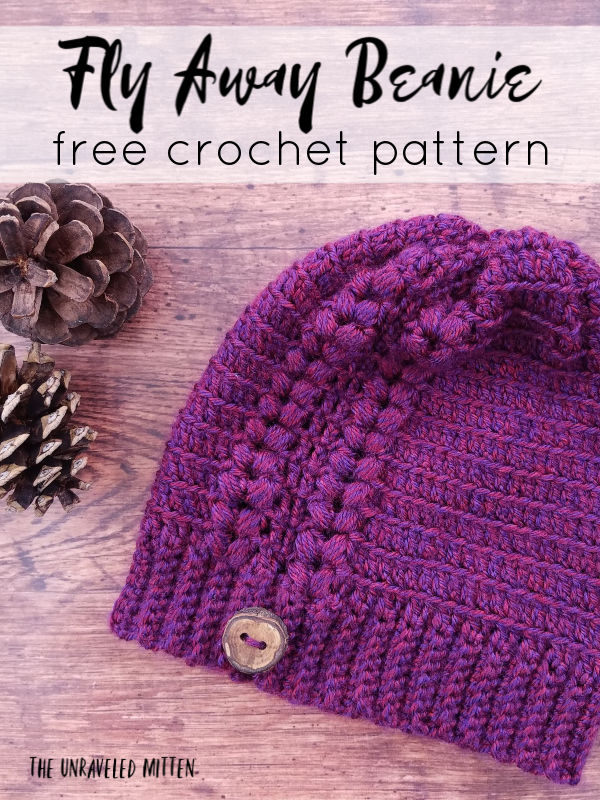 Fly Away Beanie | Free Crochet Pattern | The Unraveled Mitten | Toddler, child and adult sizes!