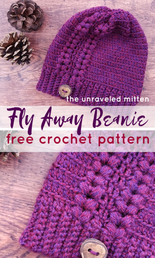 Fly Away Beanie | Free Crochet Pattern | The Unraveled Mitten | toddler, child and adult sizes available!