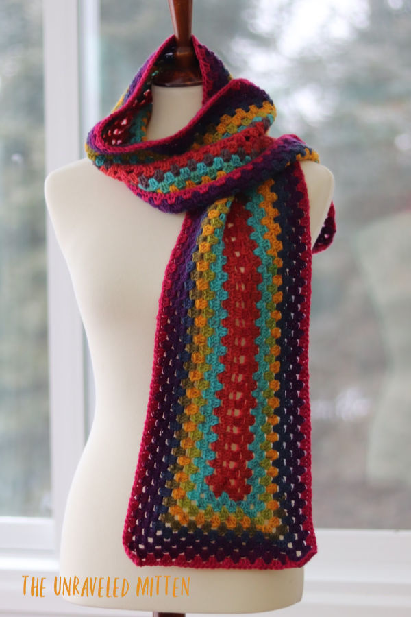 Not Just for Granny Scarf | Free Crochet Pattern | The Unraveled MItten