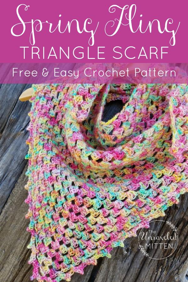 Spring Fling Shawlette | Free Crochet Pattern | The Unraveled MItten