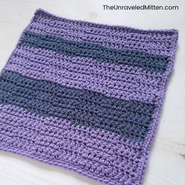 Wide Checkers Crochet Stitch | Stash Busting Crochet Along Square 6 | Free Crochet Pattern | The Unraveled Mitten