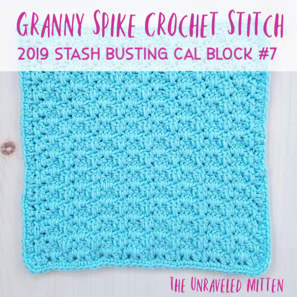 "Granny Spike Stitch | 12"" Square Free Crochet Pattern 
