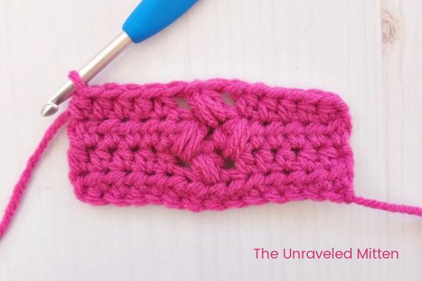 Tiny Flower Crochet Stitch Step 3 | The Unraveled Mitten