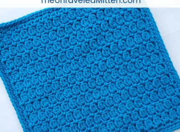 Learn to crochet the cluster stitch with The Unraveled Mitten!   Free crochet pattern
