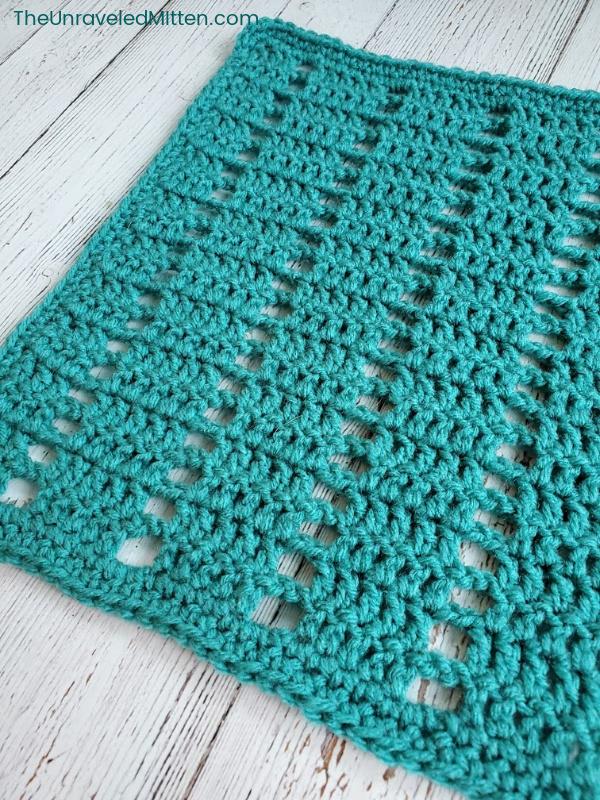 Vertical Filet Stitch Crochet Square