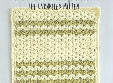 Cluster V-Stitch Square   Free Crochet Pattern   The Unraveled Mitten
