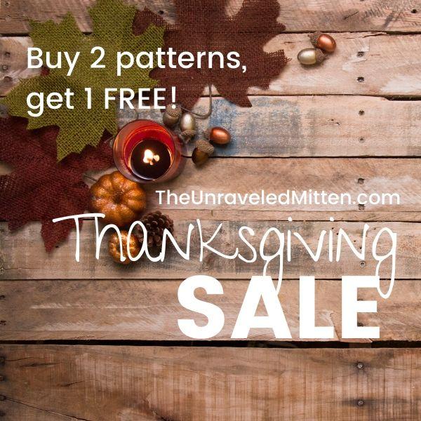 Thanksgiving Black Friday Crochet Pattern Sale!