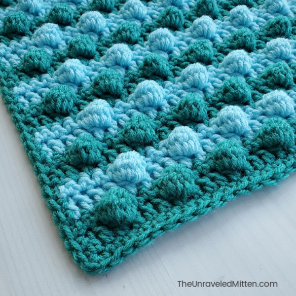 Learn the blackberry salad bobble crochet stitch! | The Unraveled Mitten | 2019 Stash Busting Sampler Afghan Crochet Along