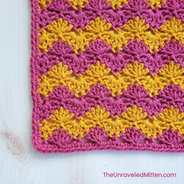 Interlocking Shell Stitch | Free Crochet Pattern | The Unraveled Mitten