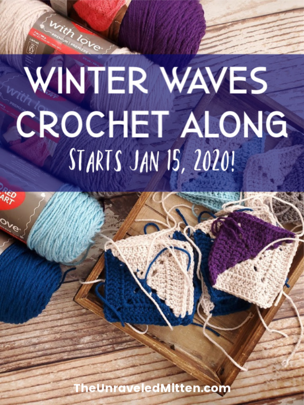 Winter Waves Crochet Along | Free Crochet Pattern | The Unraveled Mitten | Join us in making this Lake Michigan inspired winter granny square throw blanket.