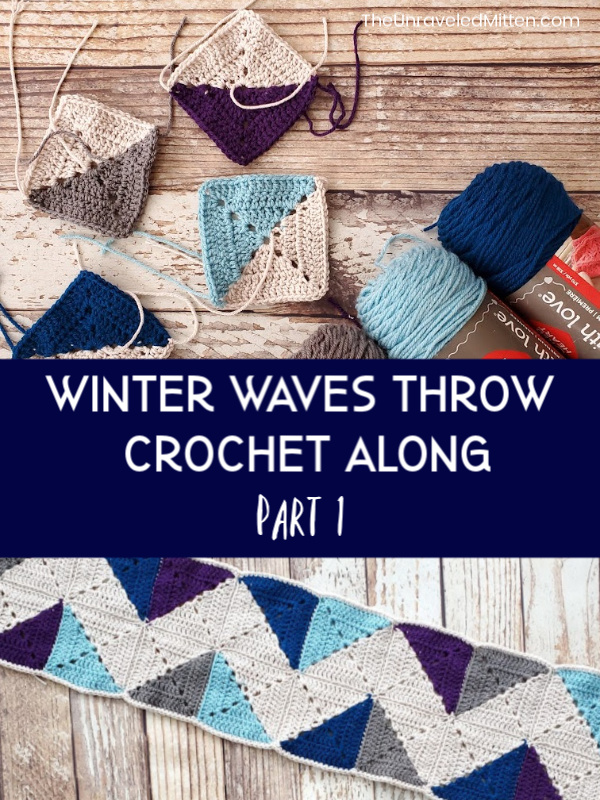Winter Waves Throw Blanket Crochet Along | The Unraveled Mitten | Join us and make this quilt inspired granny square blanket perfect to cozy up in this winter